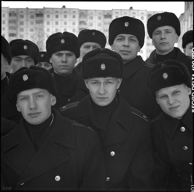 Oleg Videnin. Portraits. The company of guards. Strategic submarine base. Murmansk reg., 2008
